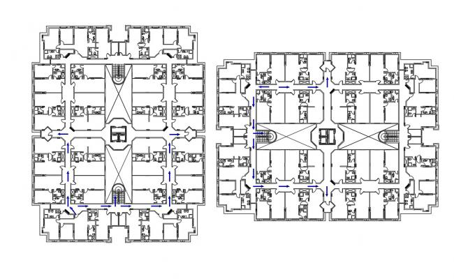 Flat Apartment CAD drawing