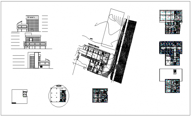 Flat electrical installation detail view dwg file