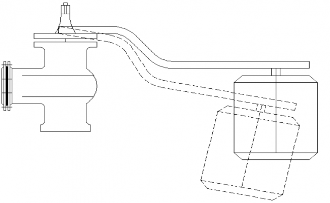 Float valve architecture design dwg file