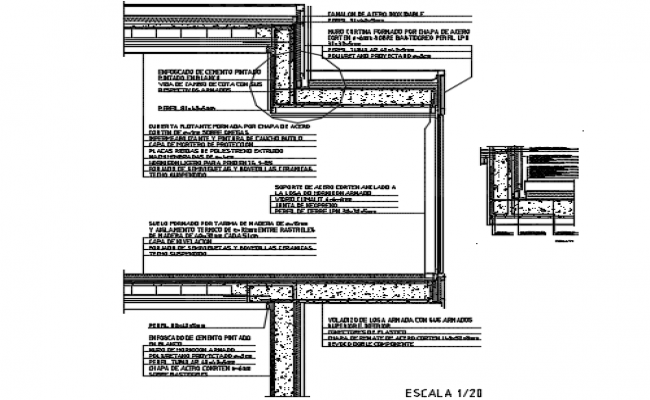 Floating cover detail dwg file