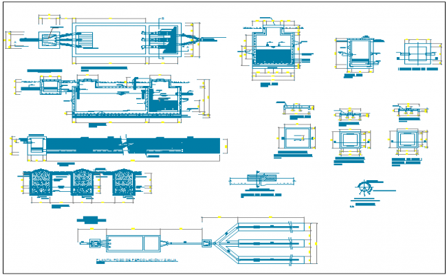 Flood zone college architecture project dwg file