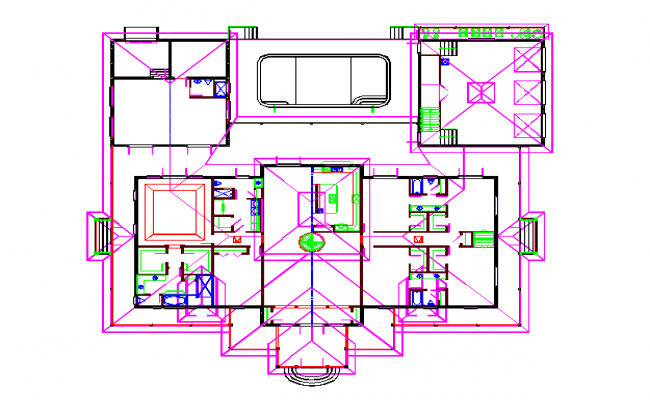 Floor Lay-out Design in cad file