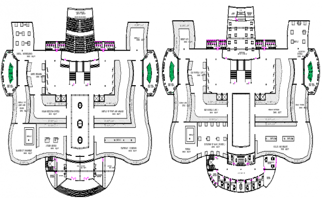 Floor Plan Details of City Museum Architecture Layout dwg file