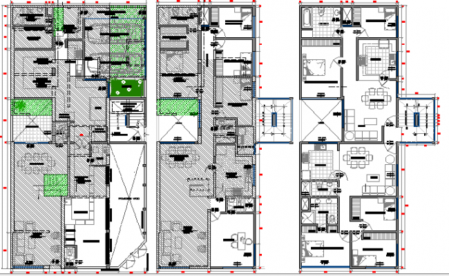 Floor plan details of multi purpose super market dwg file for Multi purpose building plans