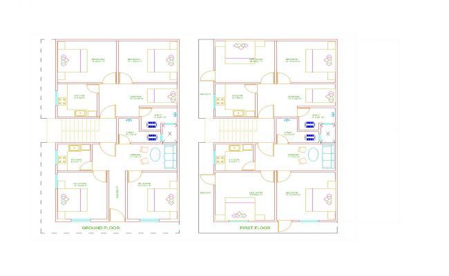 Floor Plan G+1 Residential Building