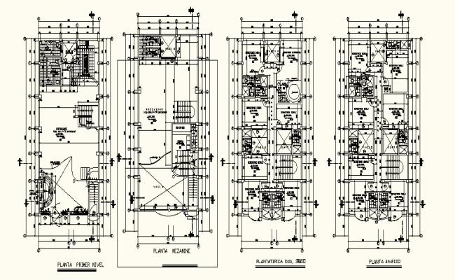 Building Floor Plan In AutoCAD File