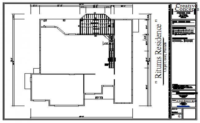 Floor framing plan detail design drawing of housing design drawing