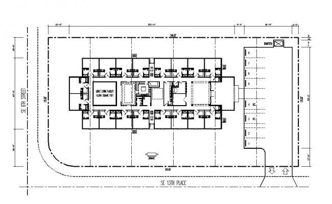 Floor framing plan details of hospital building dwg file