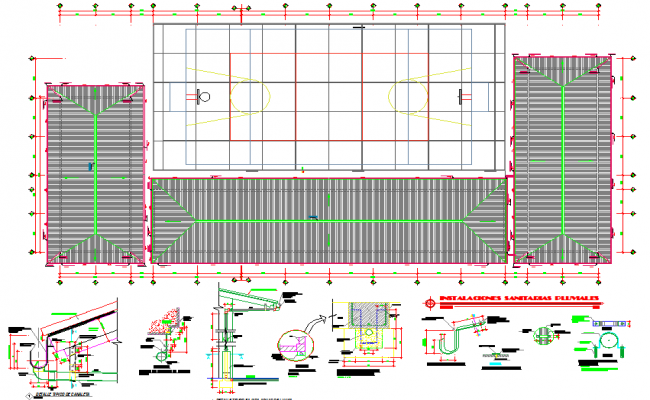 Floor layout and architectural layout plan of a college dwg file