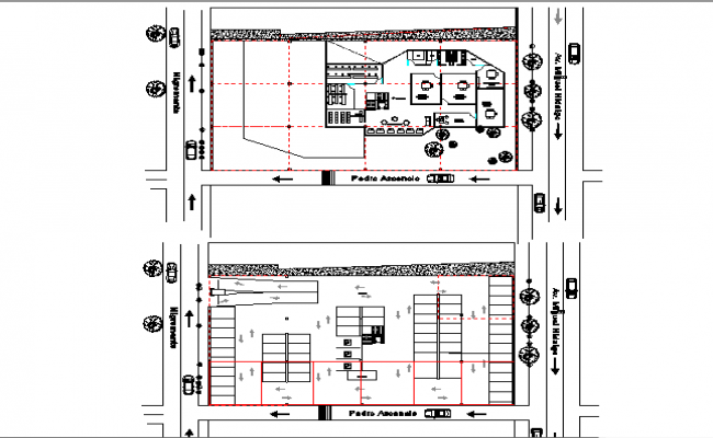 Floor layout and architectural layout plan of a office dwg file