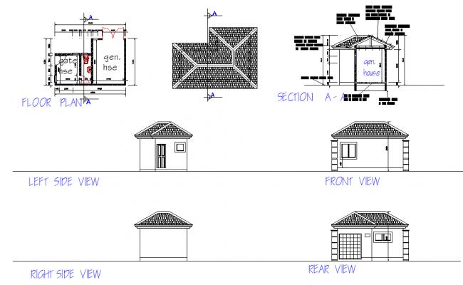 Floor layout plan autocad file