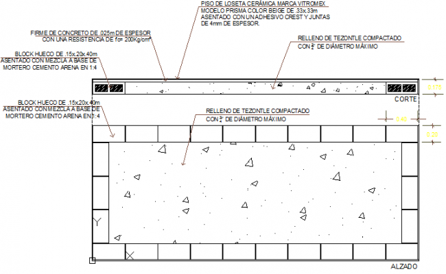 Floor level change details construction details dwg file