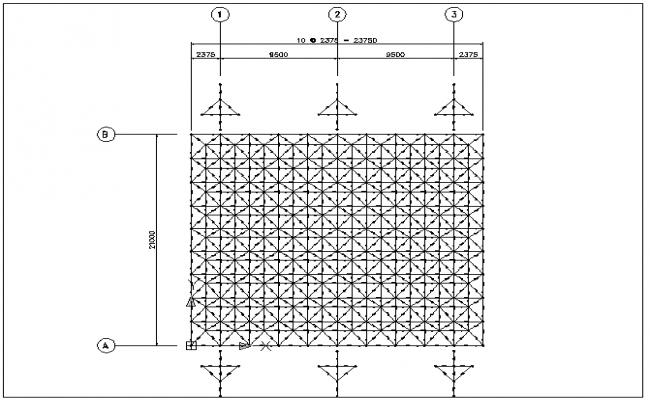 Floor loading detail of hostel detail dwg file