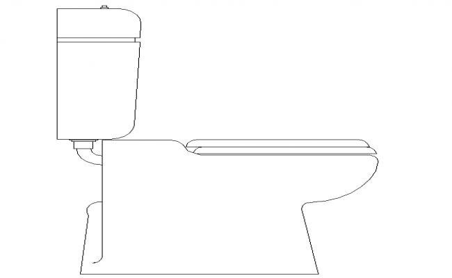 Floor mount water 2D closet Design
