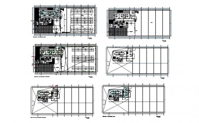 Floor plan and electrical layout plan details of office building dwg file