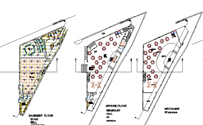 Floor plan architecture layout plan of corporate building dwg file