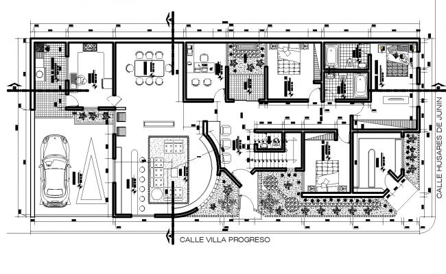 Floor plan detail dwg file.