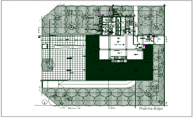 Floor plan detail specification detail with dimension dwg file