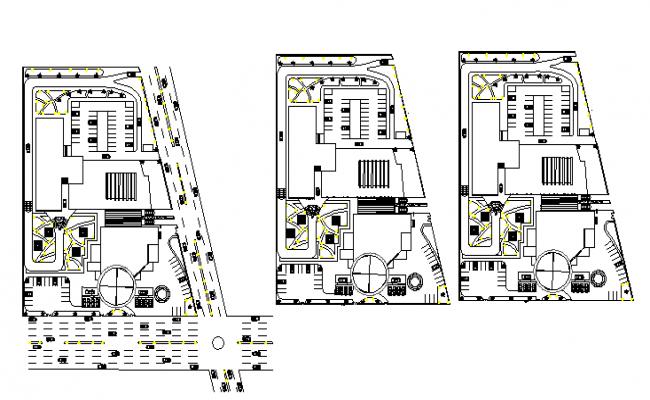 Floor Plan Details Of Bmw Automobile Showroom Dwg File