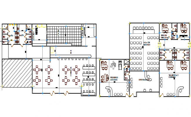 Floor Plan Layout Details Of Terminal Shopping Mall Project Dwg File