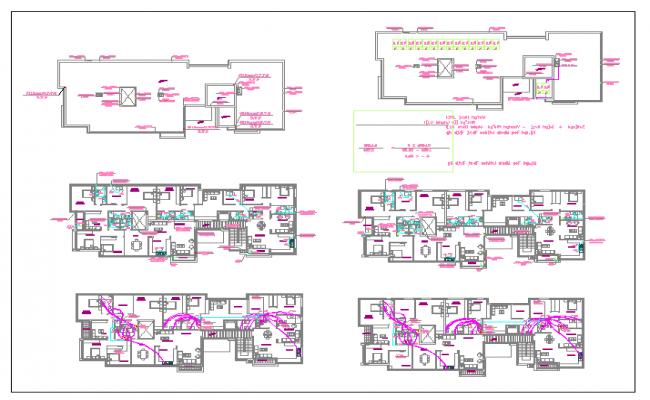 Floor plan of  a residental building dwg file