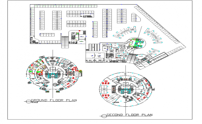 Floor plan of  hotel dwg file