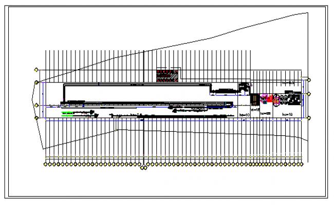 Floor plan of a factory dwg file