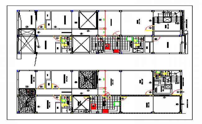 Floor plan of a house dwg file