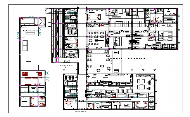 Floor plan of a restaurant dwg file