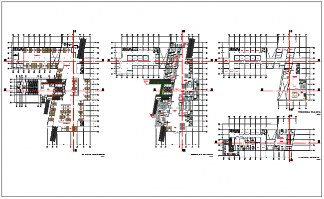 Floor plan of administration building dwg file