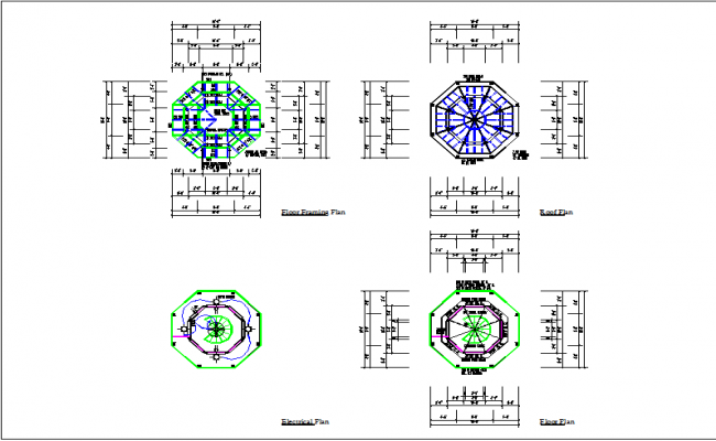 Floor plan of building detail dwg file