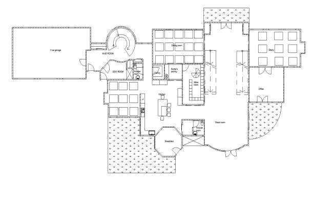 Building Floor Plans In AutoCAD File