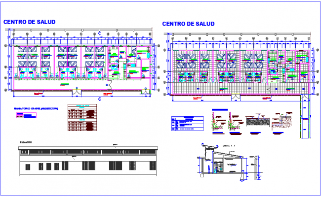 Floor plan of clinic dwg file