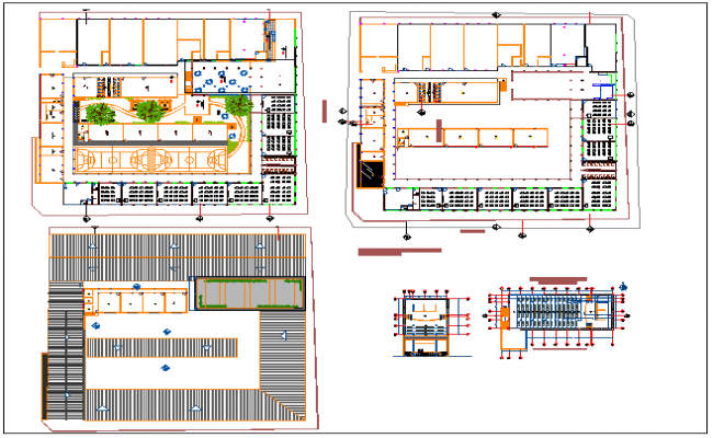 Floor plan of collage dwg file