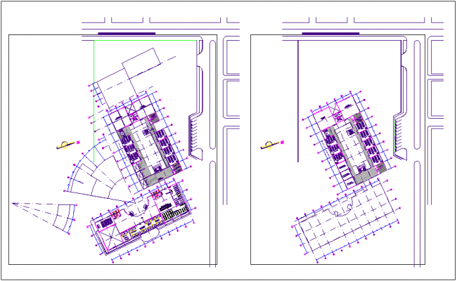 Floor plan of collage dwg file