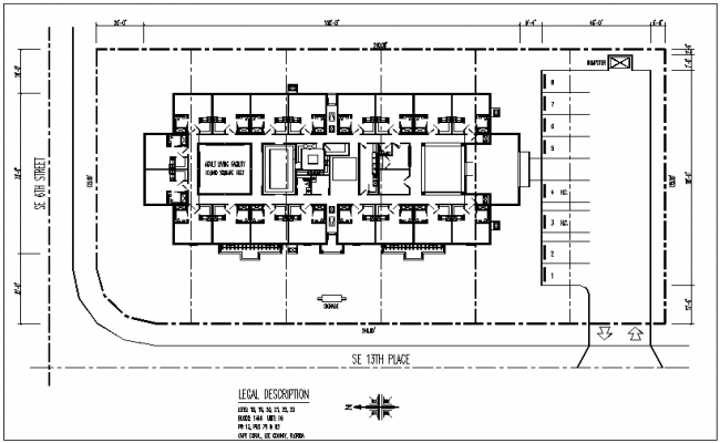 Floor plan of different house block dwg file