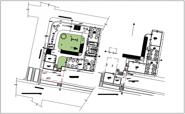 Floor plan of educational institute dwg file