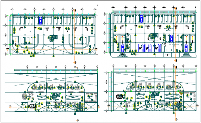 Floor plan of government building dwg file