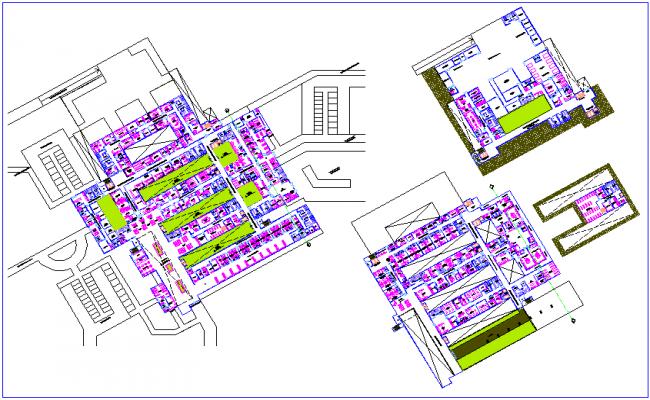 Floor plan of hospital dwg file