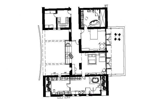 Condo Floor Plan In DWG File