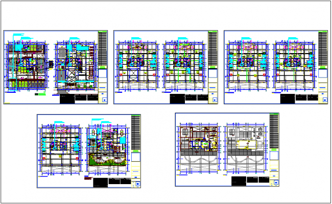 Floor plan of office building with door and window detail dwg file