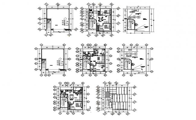 Floor plan of residential home 6.50mtr x 8.80mtr in AutoCAD