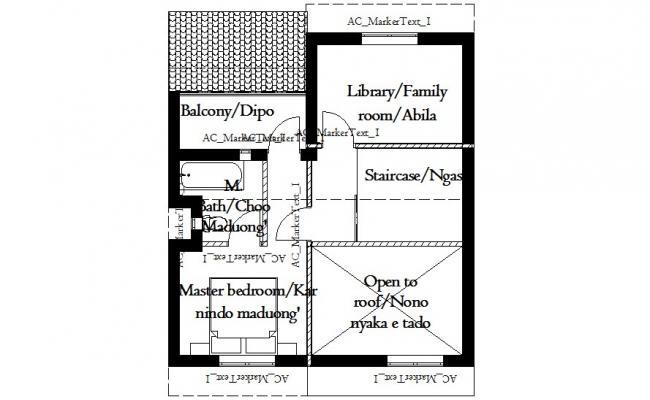 Villa Layout Plan In DWG File