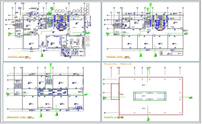 Floor plan of school dwg file