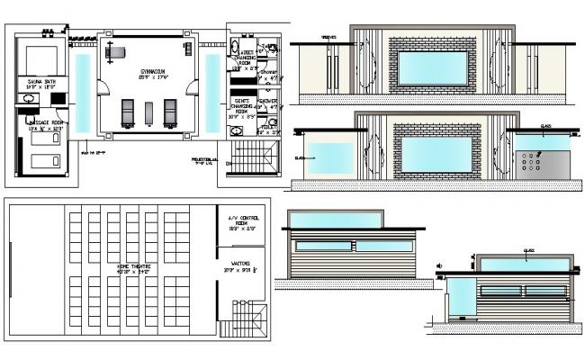 Gym Floor Plan In AutoCAD File