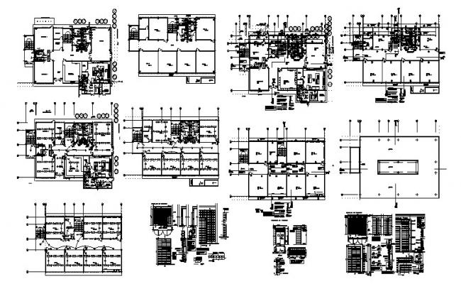 Floor plan of the residential house with section and elevation in AutoCAD