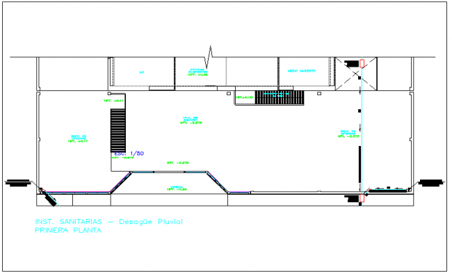 Floor plan view and foundation plan layout detail view dwg file