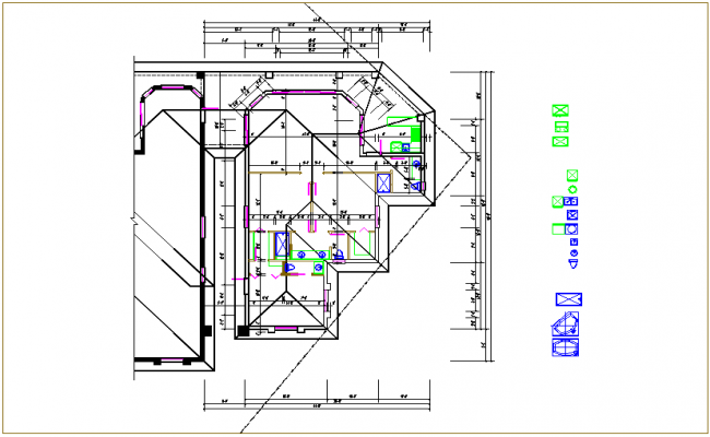 Floor plan view dwg file