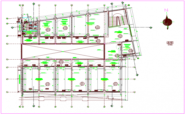 Floor plan view of school dwg file