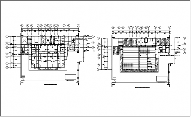 Floor plan with construction view of housing dwg file